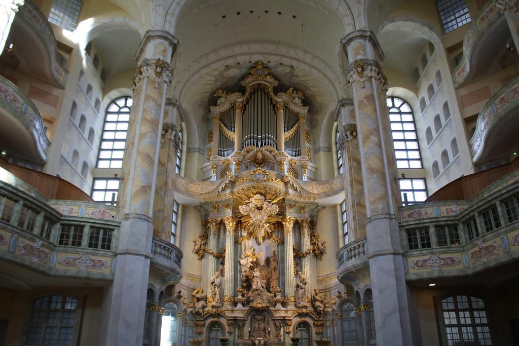 Dresden: Frauenkirche - Altarraum