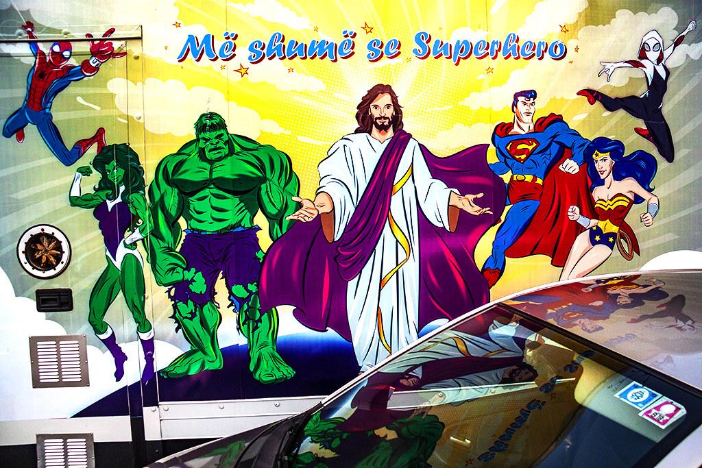 More than a Superhero on 7-17-21--Tirana