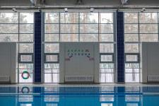 Территория Санатория Ружанский - панорамное остекление в бассейне