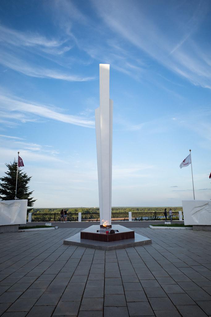 Eternal flame memorial in Kirov