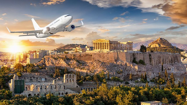 Flying over Greece