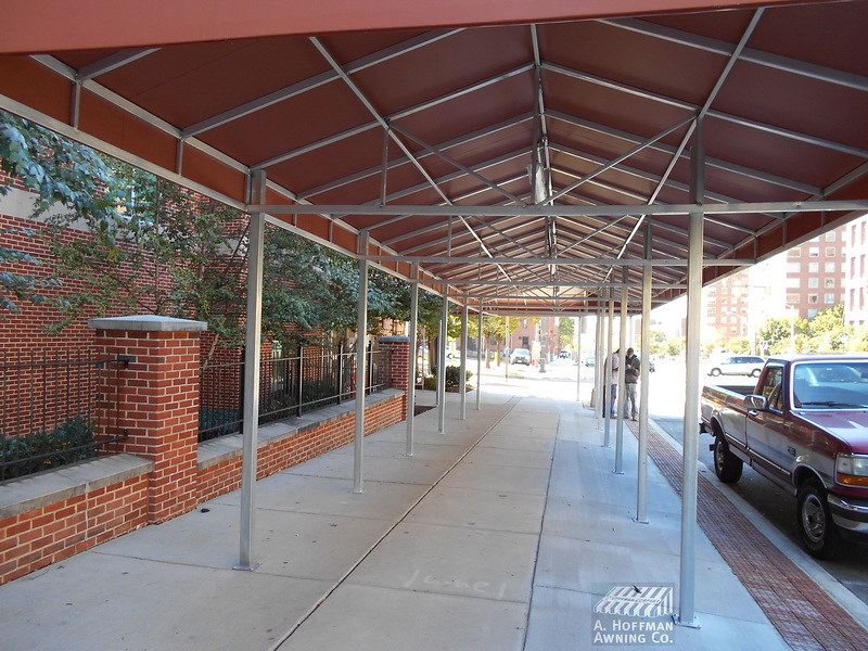 long walkway canopy- Hoffman Awning Co. Baltimore