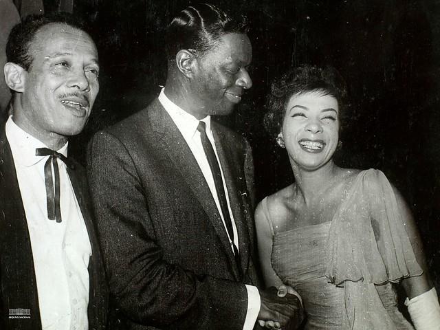 Bocker Pittman, Nat King Cole e Elizeth Cardoso, 1959