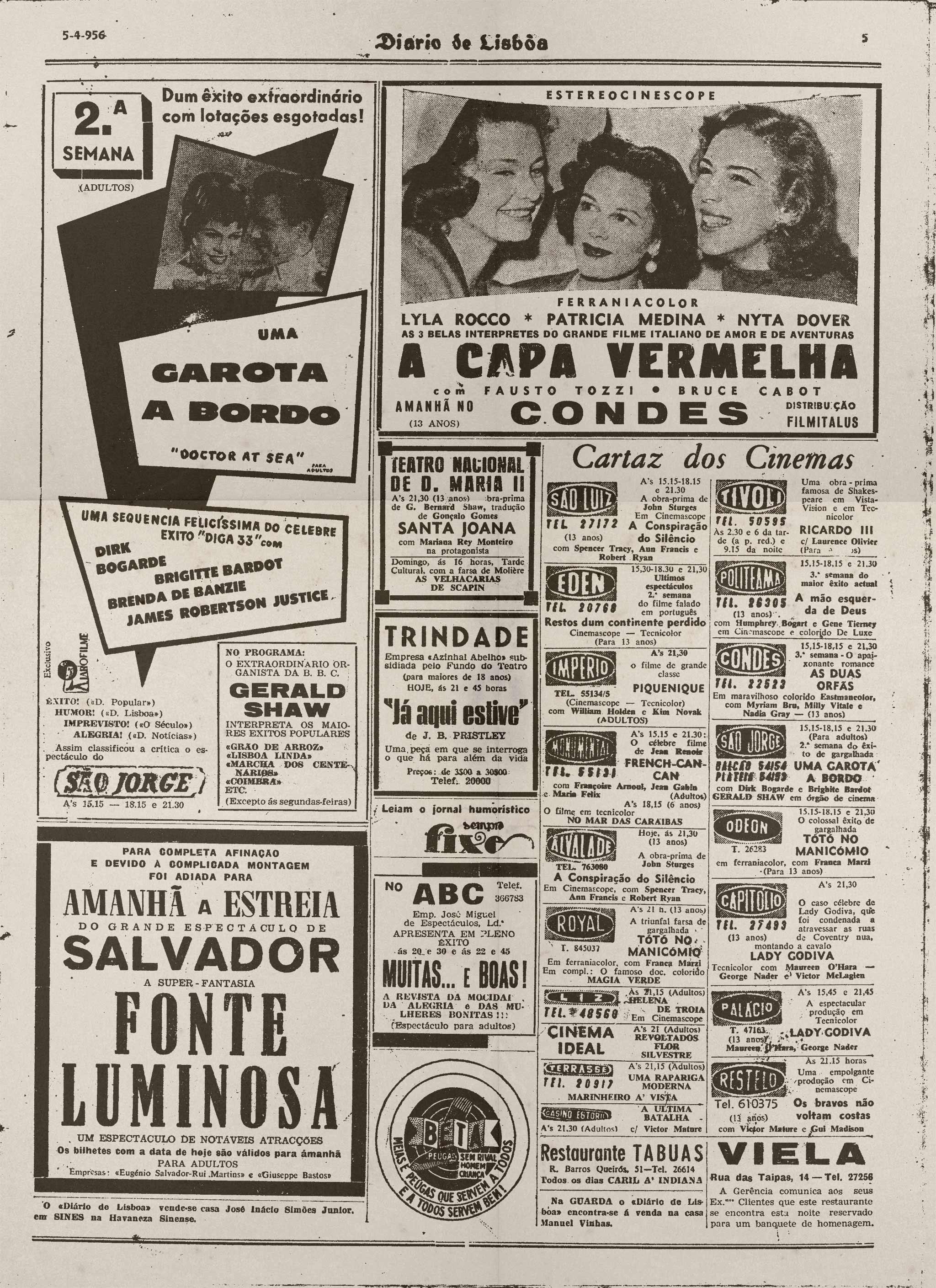 Diário de Lisbôa, 5/4/956