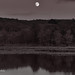 Moon Over Cold Stream Dam, 22 July, 2021