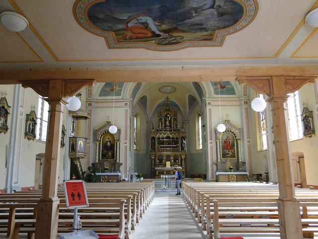 Church interior of Gaschurn
