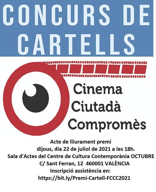 20210721 Acte lliurament Premi Concurs cartell del VII Festival Cinema Ciutadà Compromés FCCC2021