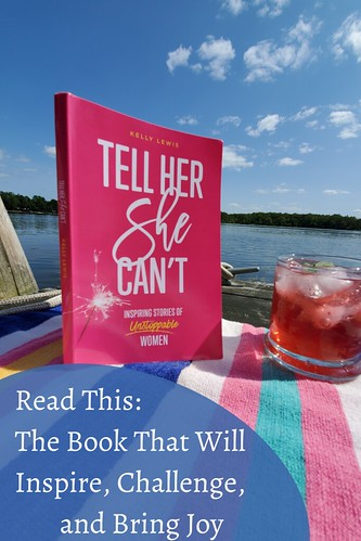 book cover on a wooden dock against a blue sky. From Read This: The Book That Will Inspire, Challenge, and Bring Joy