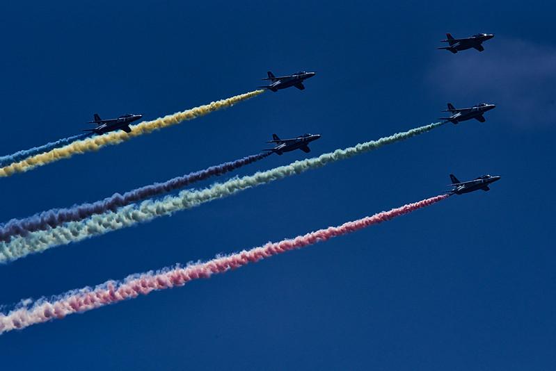Blue impulse demo flight