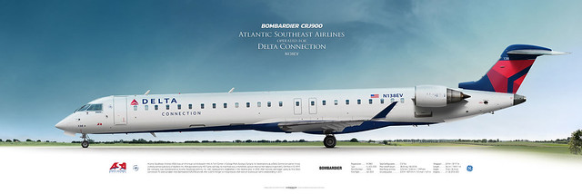 Bombardier CRJ900 Atlantic Southeast Airlines