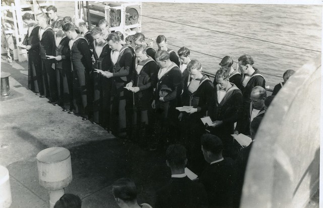Church Service -HMCS WASKESIU