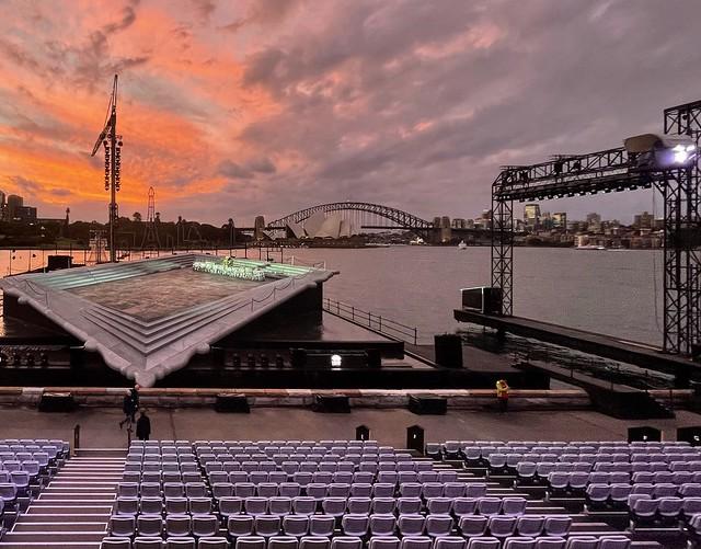 Sunset over The opera
