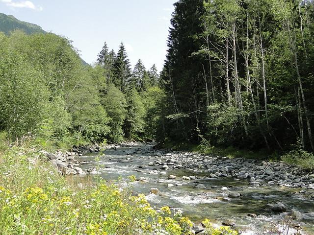 Ill river between Gaschurn and St. Gallenkirch