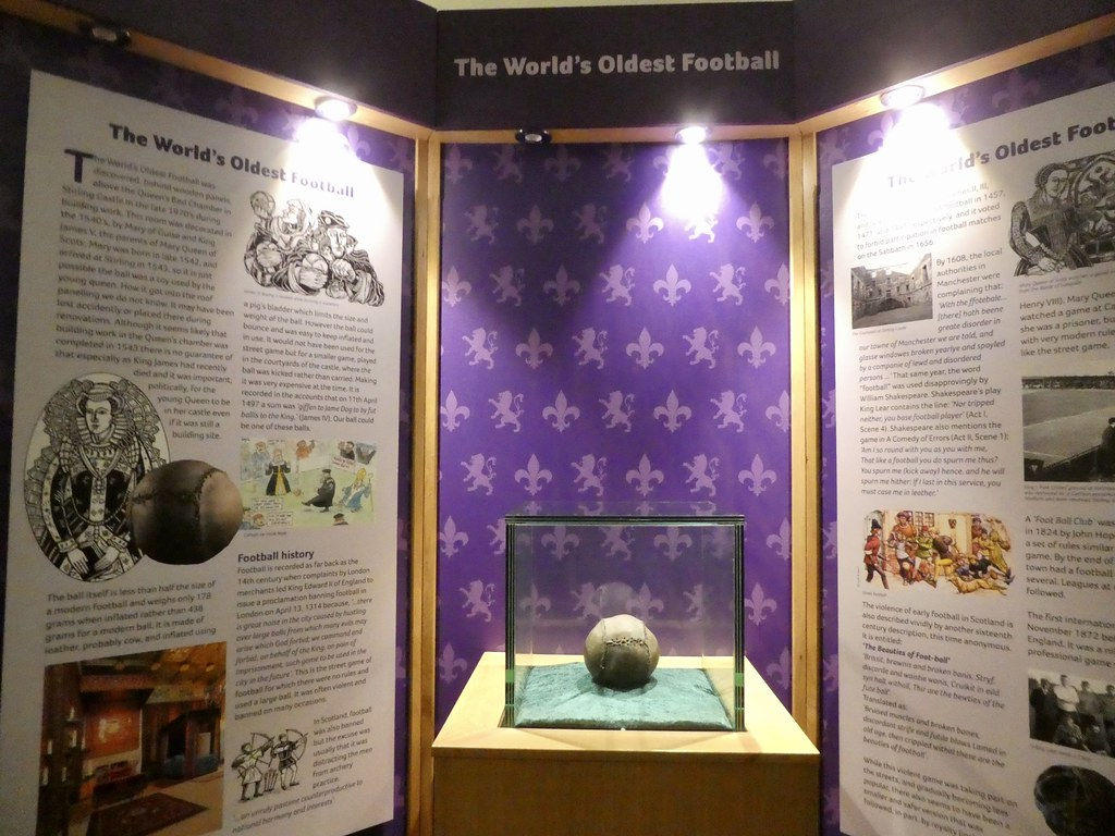 The world's oldest football in Stirling Museum