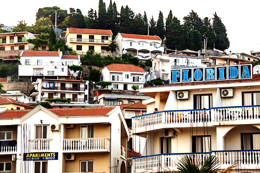 View of town from the beach on 7-14-21--Ulcinj