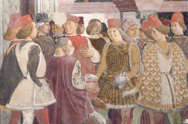 Borso d'Este, first duke of Ferrara, and his courtiers at Schifanoia (1471)