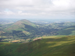 Mynydd Troed and the Dragon's Back, from Pen Allt-mawr SWC Walk 333 - Crickhowell Circular (via Table Mountain and the Three Pens)