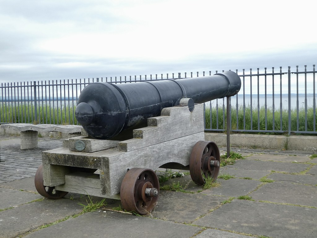 Cannons on the headland at St Andrews