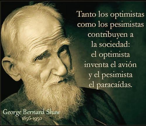 Contribución de los optimistas y de los pesimistas