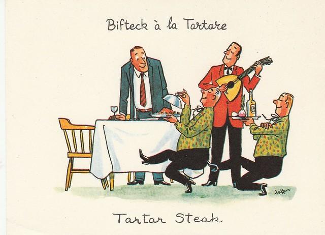 Bifteck à la Tartare - illustration de Jeff pour le Beaver Club, Montréal