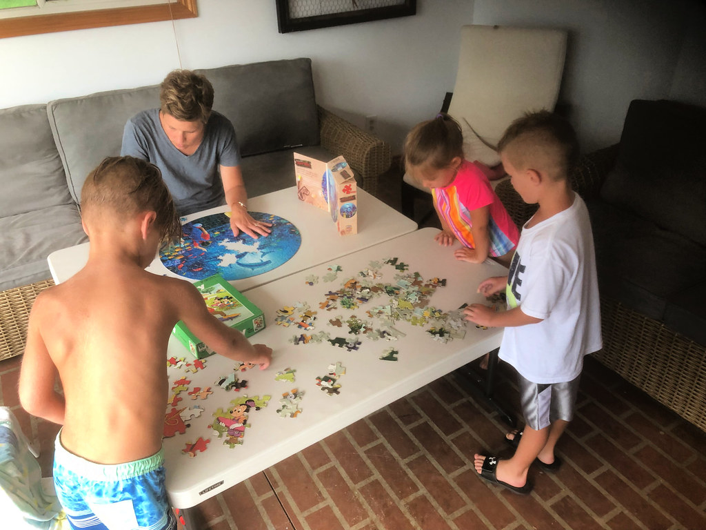 working on puzzles