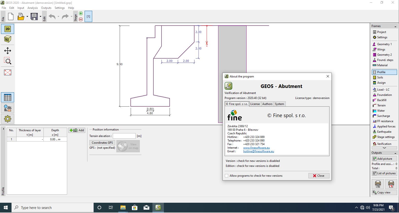 Design with fine GEO5 2020 Professional full
