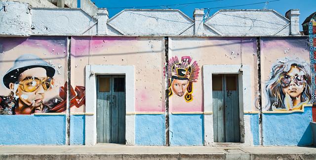 Painted Wall: Tequequixtla, Tlaxcala