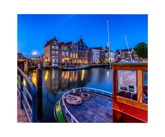 Maassluis historic harbor