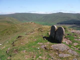 Boundary Stones between Pen Twyn Glas and Mynydd LLysiau SWC Walk 333 - Crickhowell Circular (via Table Mountain and the Three Pens) [Long Route via Waun Fach and Pen y Gadair Fawr]