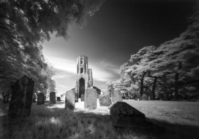 Wymondham Abbey in infra-red