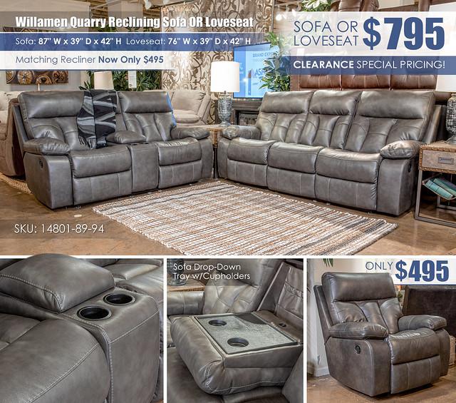 Willamen Quarry Reclining Sofa OR Loveseat_14801-89-94-ALT
