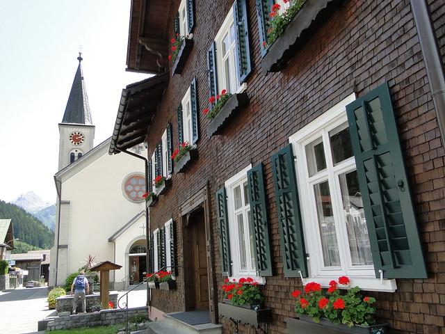 Church and rectory in Gaschurn, Vorarlberg