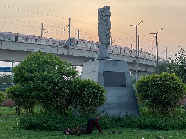 City Landmark - Face of Stoicism, Anand Vihar2