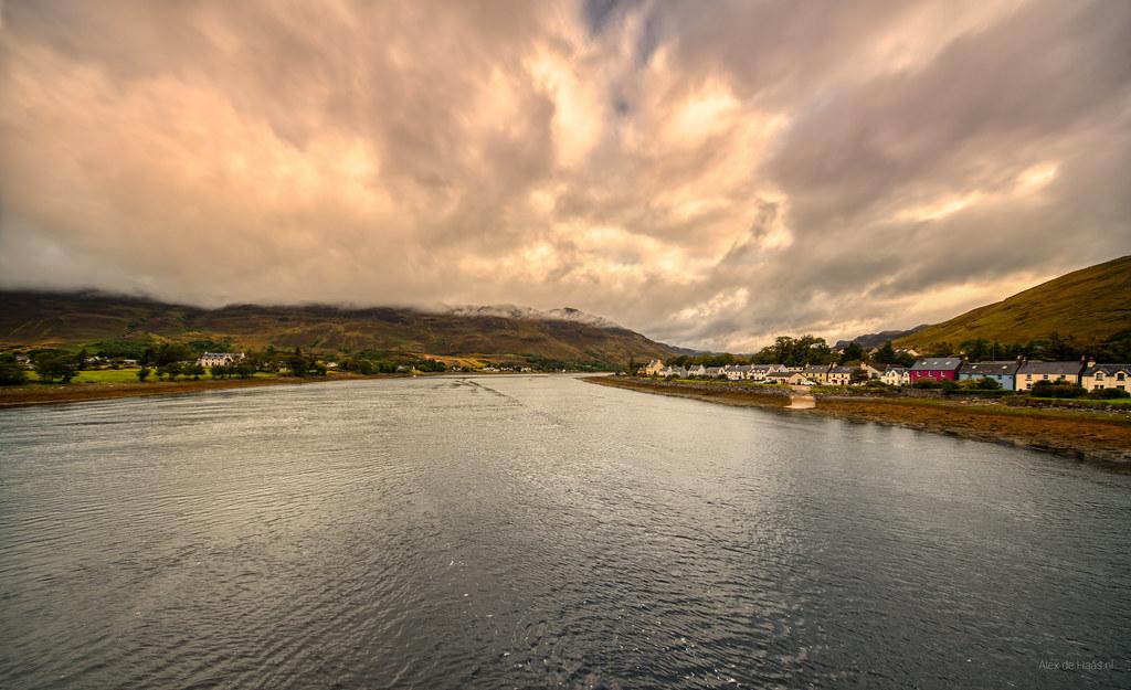 Loch Long, seen from the A87 bridge near Eilean Donan, Scotland.