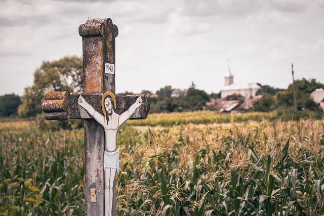 Cross in a field...