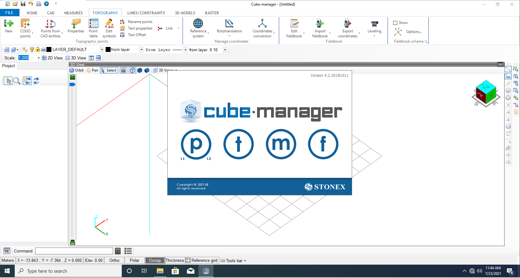 Working with Stonex Cube Manager v4.2 full