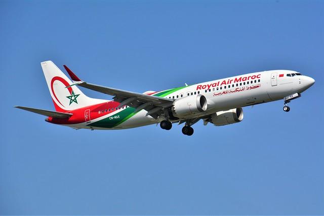 (ORY) RAM Boeing B737 MAX8  CN-MAX Landing runway 06 from Casablanca
