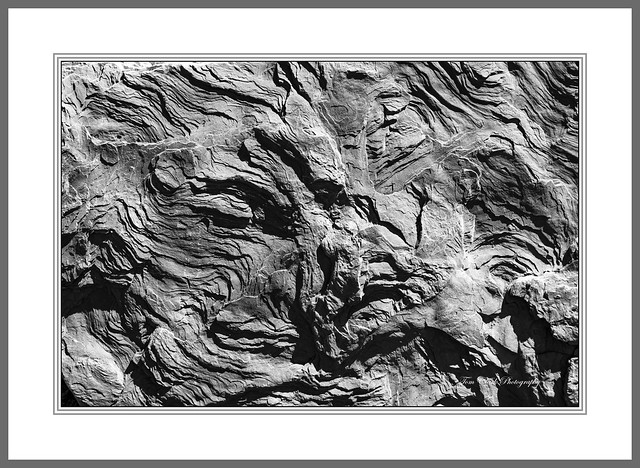 abstract rock face in Capitol Reef NP