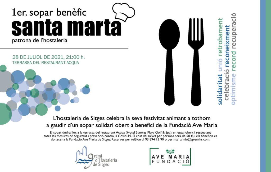 Sopar benèfic del Gremi d'Hostaleria de Sitges, Santa Marta Sitges 2021