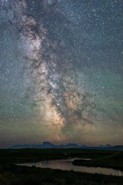 Milky Way & Chief Mountain in the distance