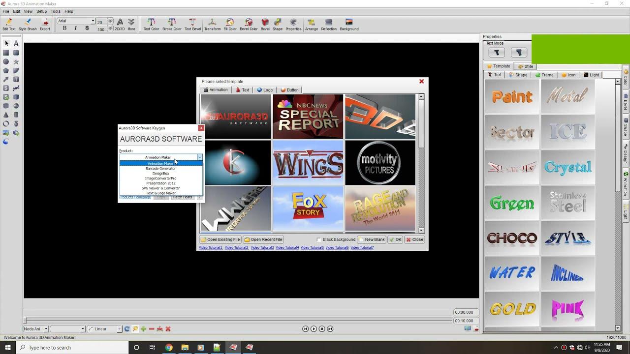 Working with Aurora 3D Presentation 20.01.30 full license