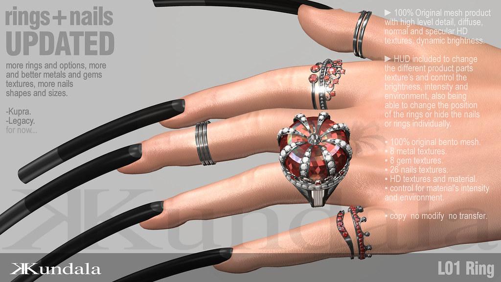 KUNDALA L01 Ring+Nails