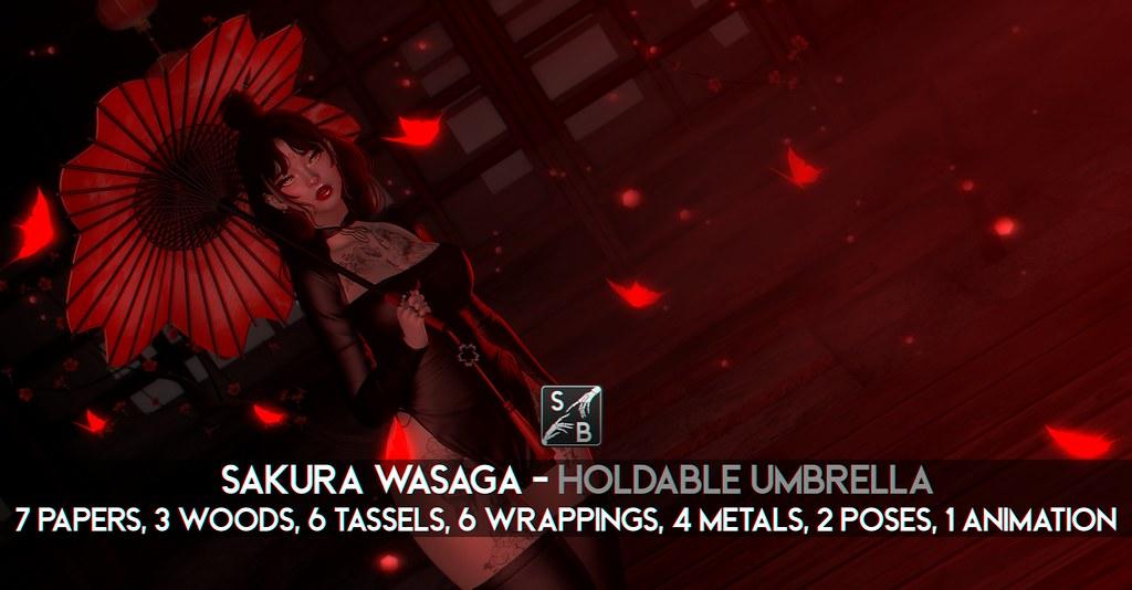 Skellybones – Sakura Wagasa – Holdable Umbrella @ The Warehouse Sale