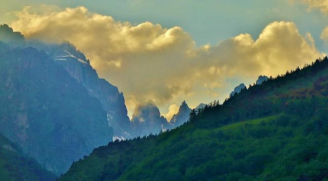 ITALIEN, Italy, Molveno, Blick zum Brenta-Gebirge , Wetter ?,  79141/13866