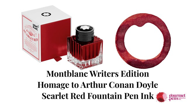 Montblanc Writers Edition Homage to Arthur Conan Doyle Scarlet Red Fountain Pen Ink