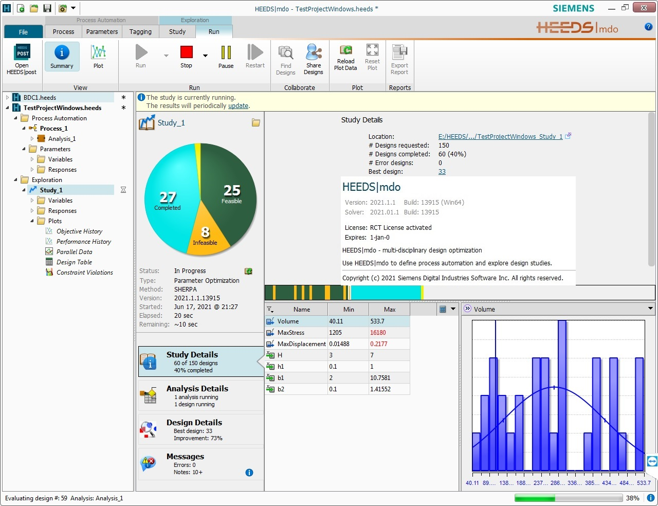 Working with Siemens HEEDS MDO 2021.1.1 + VCollab 2015 full