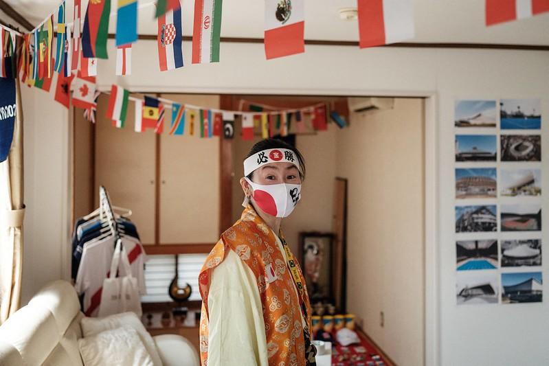 日本奧運超級粉絲石川恭子將自己的家裝成完全的奧運style。【AFP授權】
