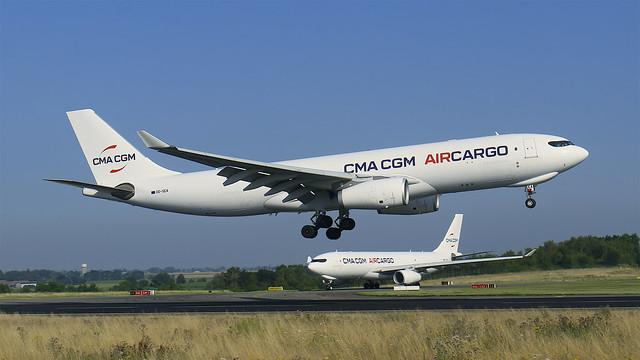 OO-SEA CMA CGM Air Cargo Airbus A330-243F - Liege AirPort (LGG/EBLG)