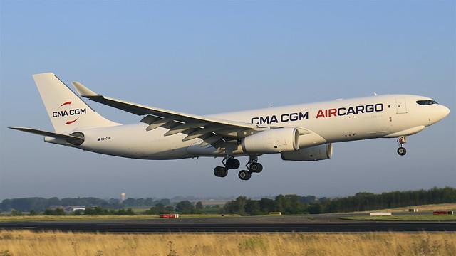 OO-CGM CMA CGM Air Cargo Airbus A330-243F - Liege AirPort (LGG/EBLG)