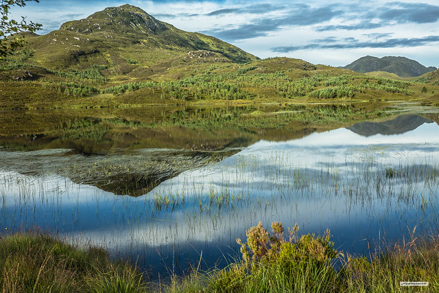 The remarkable beauty of Loch nan Gillean on the track from Cougie to Loch Affric in Glen Affric, Inverness-shire, Scotland.